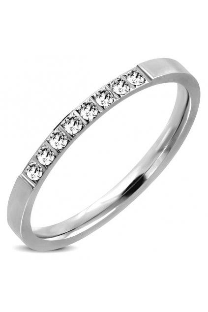 Skalimar Prsten z chirurgické oceli CLASSIC ZIRKON 22000505