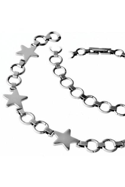 Skalimar NÁHRDELNÍK z chirurgické oceli HVĚZDIČKY 59001204