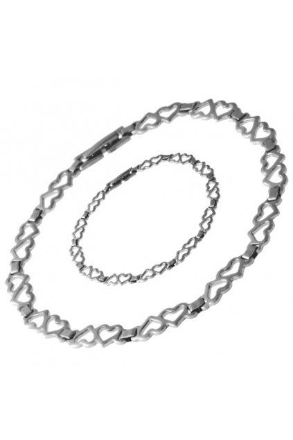 Skalimar Řetízek z chirurgické oceli SRDÍČKA 59000104