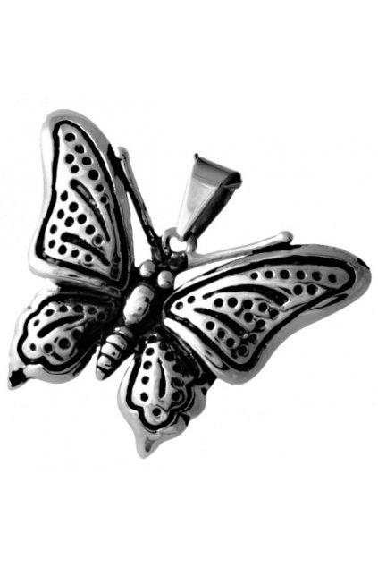 Skalimar Přívěsek z chirurgické oceli MOTÝLEK S PATINOU 313525