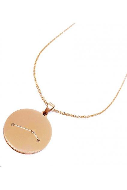 Skalimar náhrdelník z chirurgické oceli ZNAMENÍ ROSE GOLD–BLÍŽENCI 37004605.6