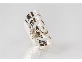 """Prsten stříbrný """"Spirála"""""""