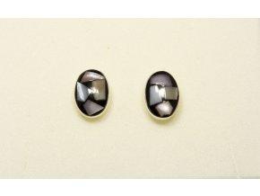 Náušnice stříbrné puzetka - PAUA