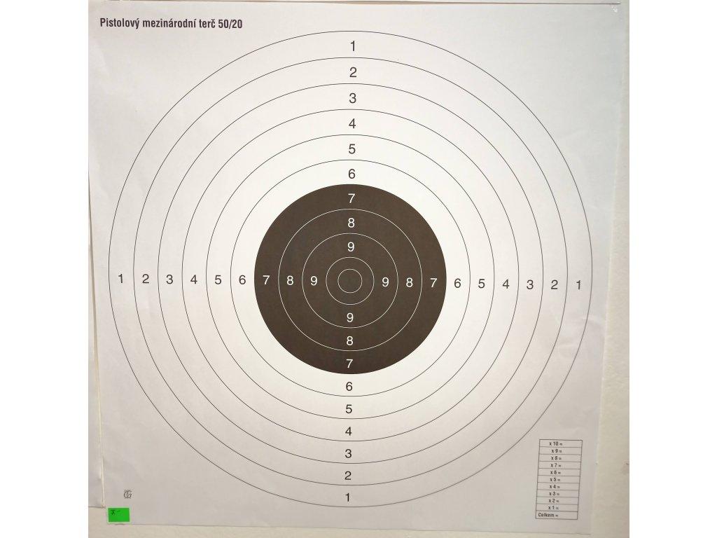 Terč mezinárodní pistolový 50/20