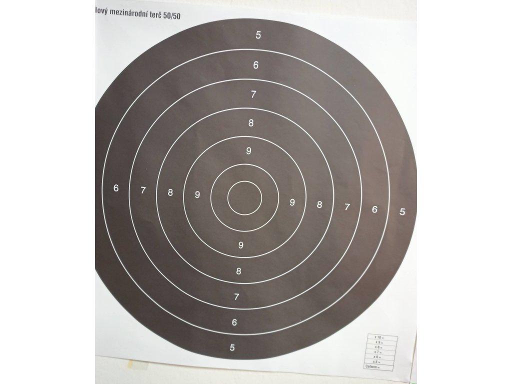 Terč mezinárodní pistolový 50/50
