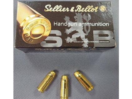 Pistolové náboje 9mm Luger FMJ Subsonic