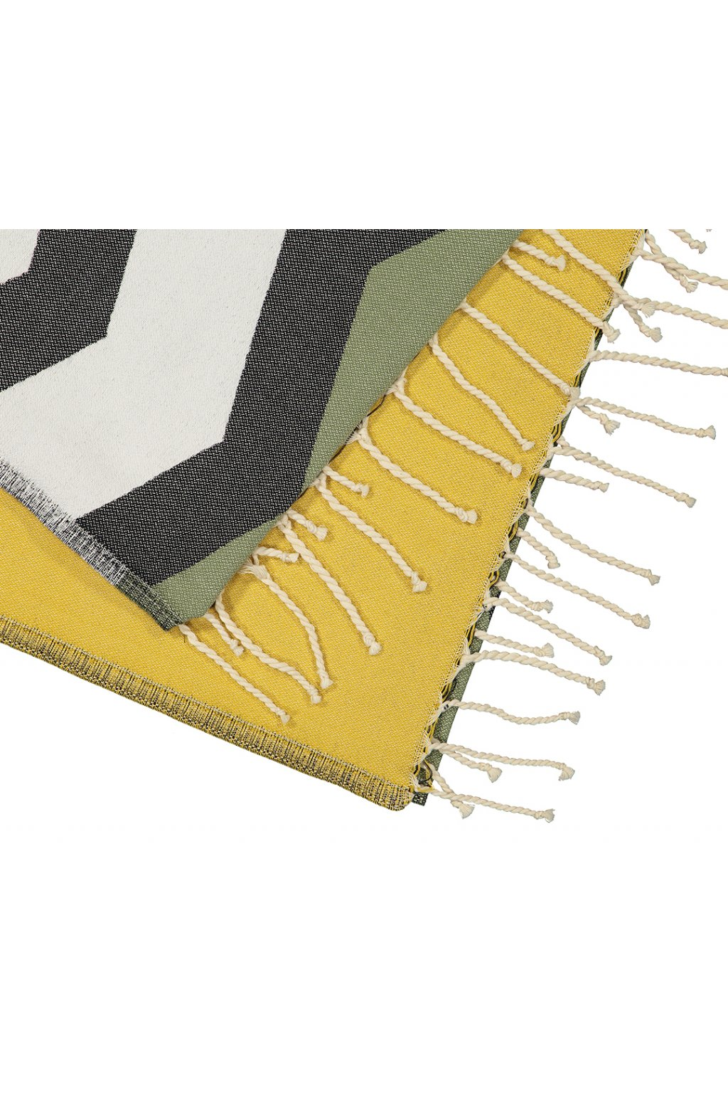 Futah Beach Towel odeceixe black & mustard Detail
