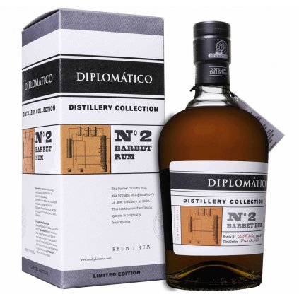Diplomatico Distillery Collection No. Barbet Column Rum + Podpis