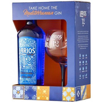 Larios 12 Premium Gin + sklenice