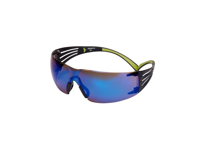 UU003683446 3m securefit safety spectacles anti scratch blue mirror lens sf408as eu clop P