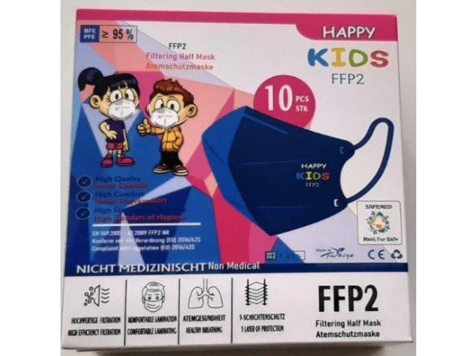 Dětský respirátor FFP2 Happy Kids, 10 ks