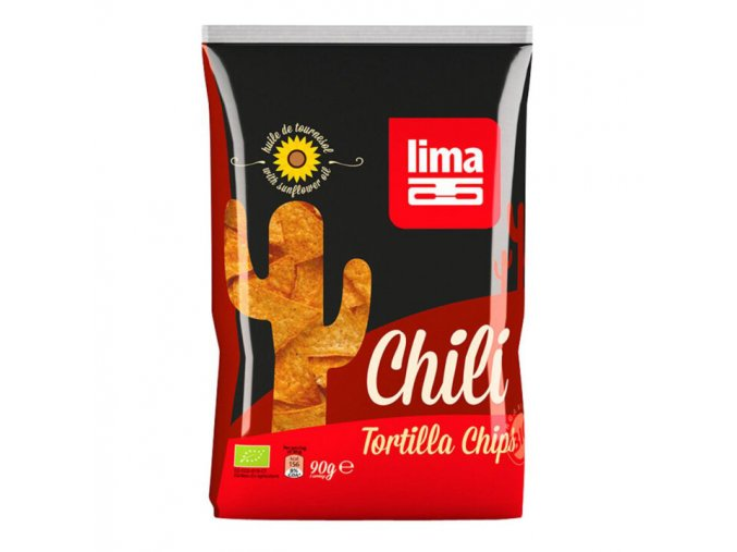 BIO tortilla chipsy s chilli 90g