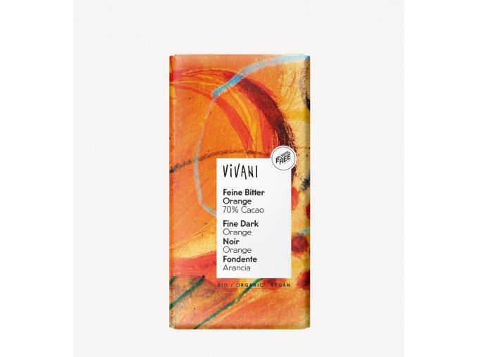 horka cokolada 70% s pomerancem vivani