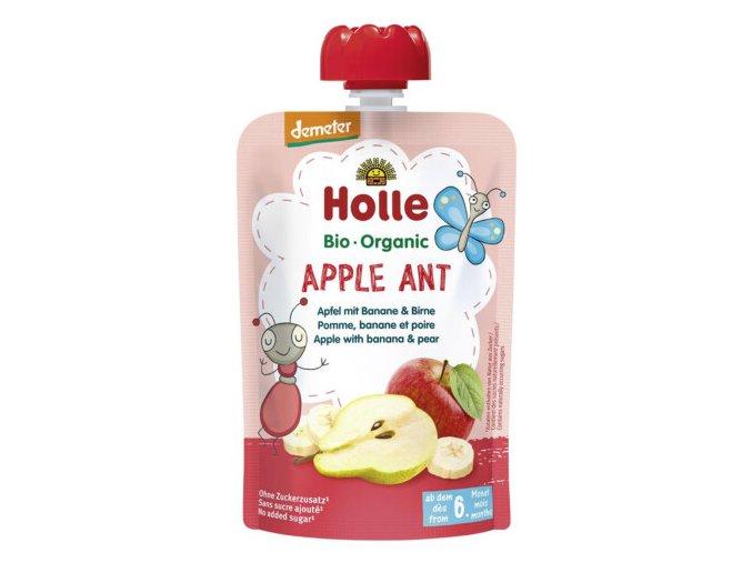 """BIO příkrm """"Apple Ant"""" jablko s banánem a hruškou 100g"""