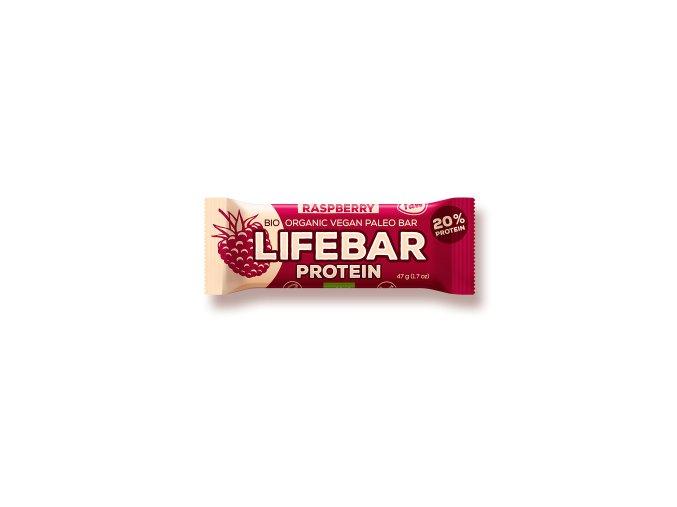 Lifebar Protein malinová BIO RAW