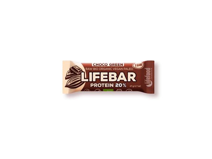 Lifebar Protein čokoládová se spirulinou BIO RAW