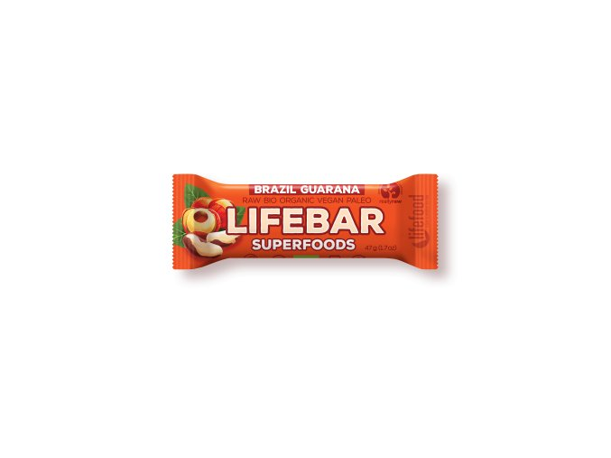 Lifebar Superfoods brazilská s guaranou BIO RAW