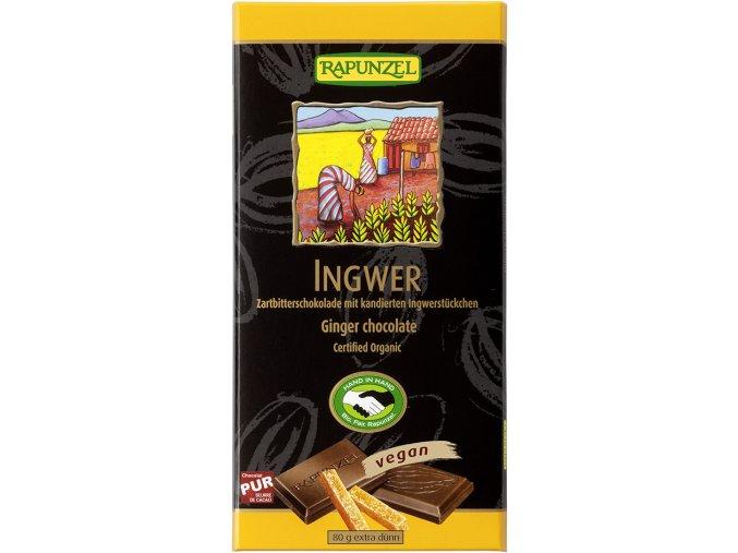Bio hořká čokoláda se zázvorem RAPUNZEL 80 g