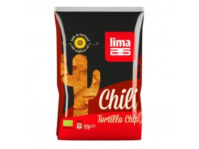 BIO tortilla chipsy s chilli 90g