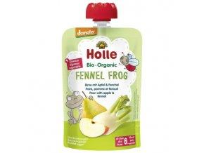 """BIO příkrm """"Fennel Frog"""" hruška s jablkem a fenyklem 100g"""