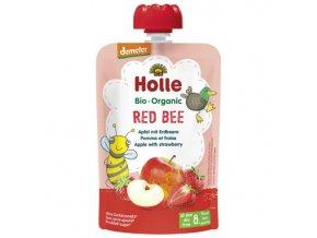 "BIO příkrm ""Red Bee"" jablko s jahodami 100g Holle"