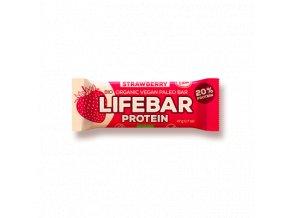 Lifebar Protein jahodová BIO RAW