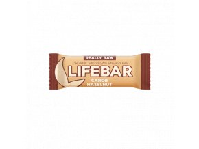 Lifebar karobová s lískovými oříšky BIO RAW