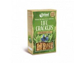 LIFE CRACKERS Zelánky s kyselým zelím a chia BIO RAW