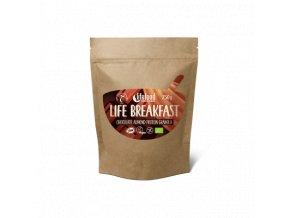 LIFE BREAKFAST Granola čokoládová s proteinem a mandlemi BIO RAW