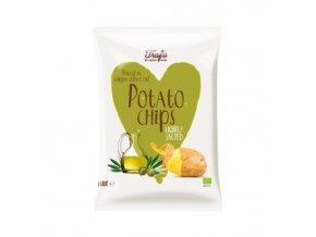 BIO bramborové chipsy v olivovém oleji