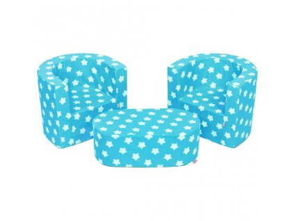 Dětská sedací souprava New Baby hvězdičky modrá