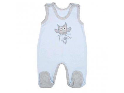 Kojenecké dupačky New Baby Owl modré 74