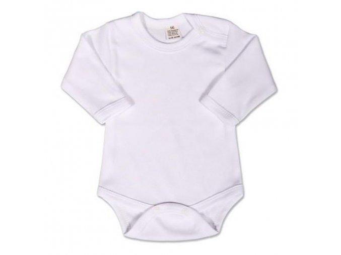 Body dlouhý rukáv New Baby - bílé 74