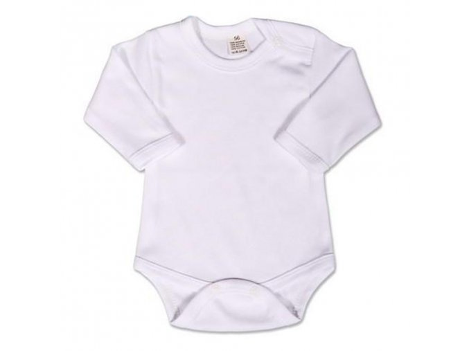 Body dlouhý rukáv New Baby - bílé 86