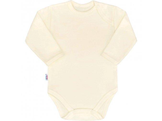 Kojenecké body s dlouhým rukávem New Baby Pastel béžové 56