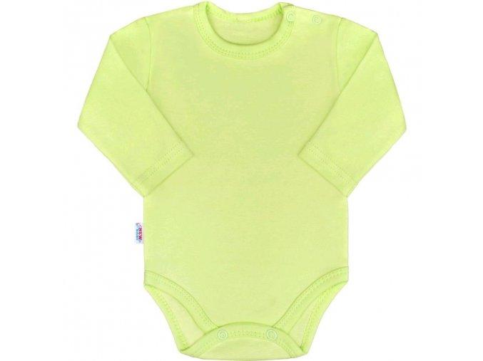 Kojenecké body s dlouhým rukávem New Baby Pastel zelené 86