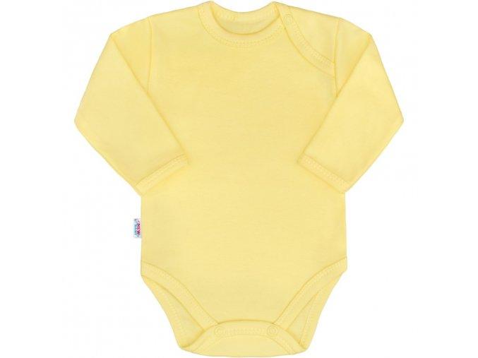 Kojenecké body s dlouhým rukávem New Baby Pastel žluté 86