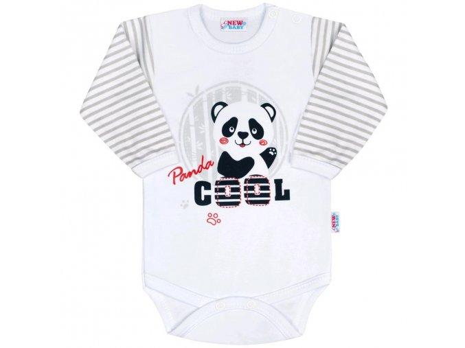 Kojenecké body s dlouhým rukávem New Baby Panda 74