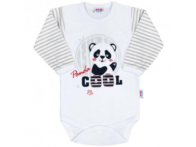 Kojenecké body s dlouhým rukávem New Baby Panda 86