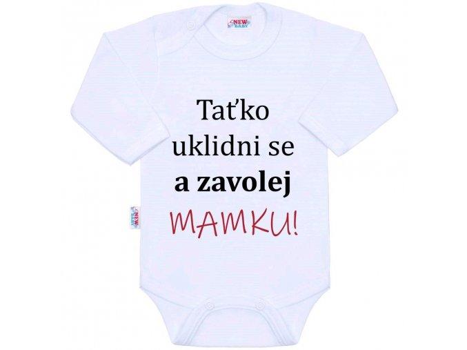 Body s potiskem New Baby a zavolej MAMKU! vel 56