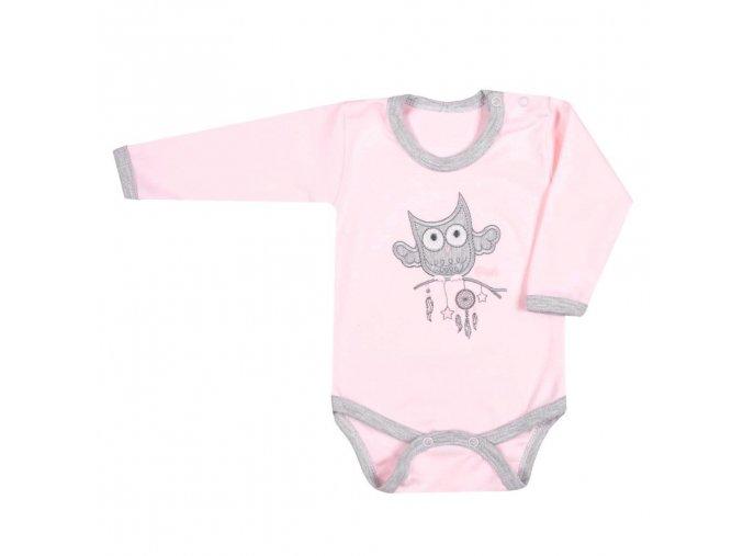 Kojenecké body New Baby Owl růžové 86