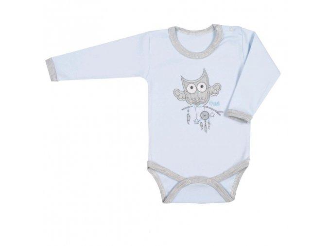 Kojenecké body New Baby Owl modré 86