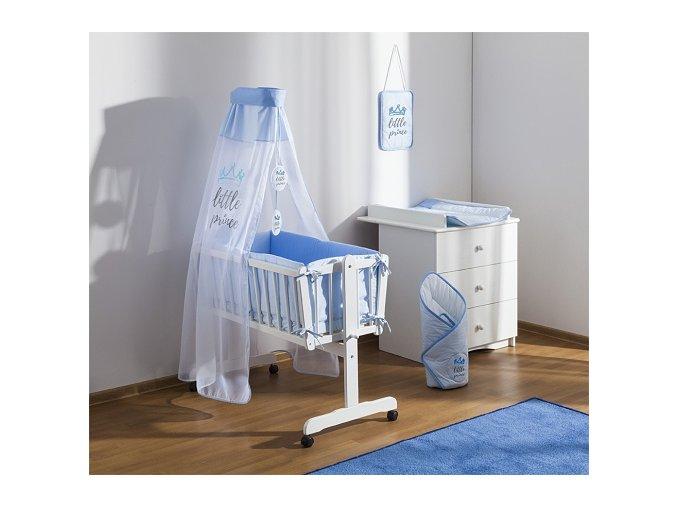 Baby Nellys 8-dílná sada do kolébky Little Prince - modrá