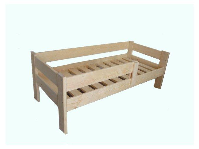 Dětská postel TADEÁŠ se zábranou - masiv, borovice