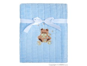 Dětská deka Baby Mix Medvídek modrý