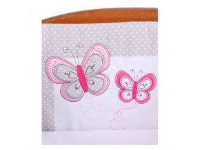 2-dílné ložní povlečení Belisima Motýlek 100/135 šedé
