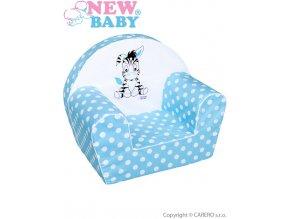 Dětské křeslo New Baby Zebra modré