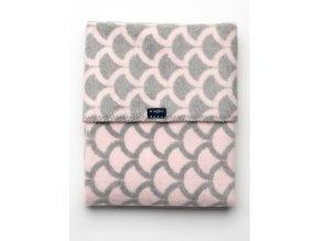 Dětská bavlněná deka se vzorem Womar 75x100 růžovo-šedá