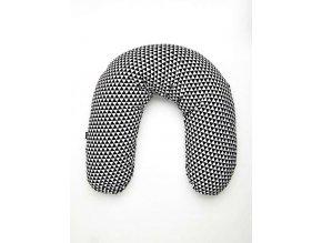 Univerzální kojící polštář Womar bílo-černý