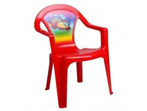 Dětský zahradní nábytek - Plastová židle červená